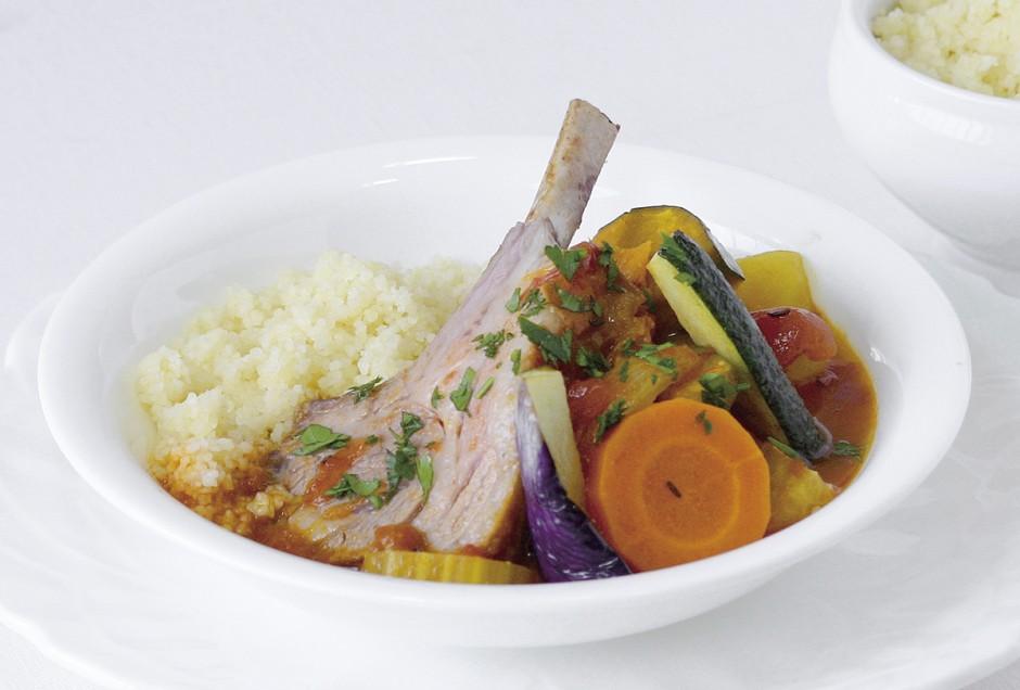 ラム肉と夏野菜のクスクス