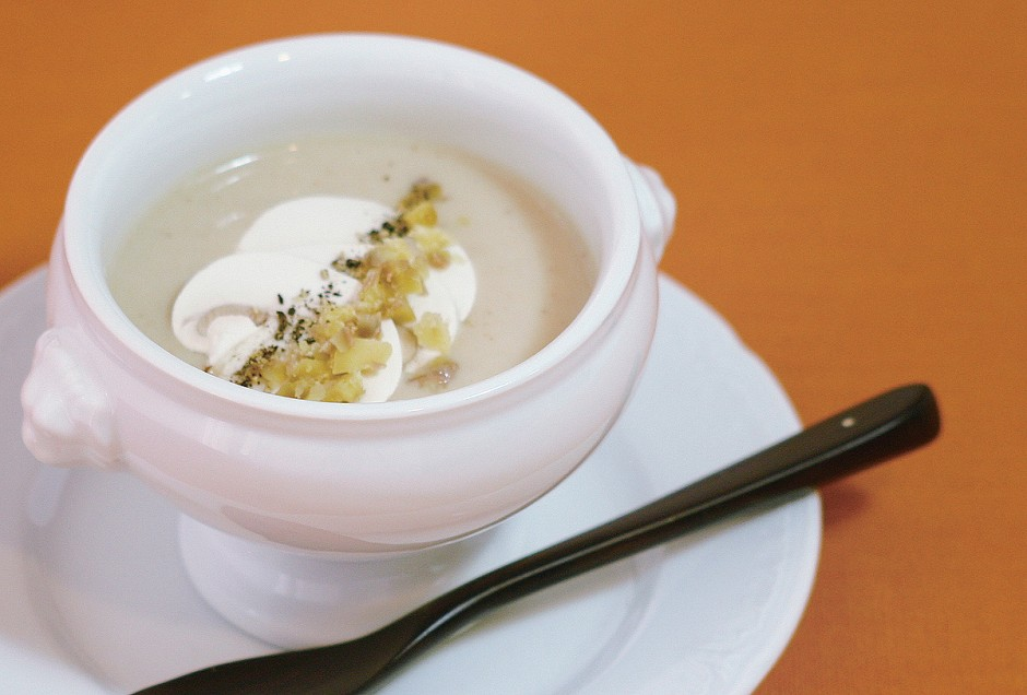 栗とマッシュルームのスープ