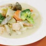秋鮭と根菜の和風シチュー