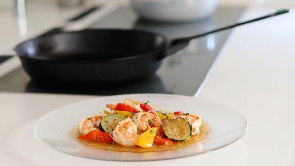 野菜と海老の焼きマリネ